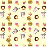 Fast food. Seamless background stock images