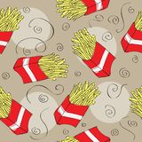 Fast food seamless pattern background Royalty Free Stock Photography