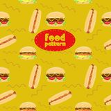 Fast food seamless pattern. Elegance seamless fast food pattern. Vector illustration Stock Photo