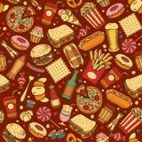 Fast Food seamless pattern Stock Image