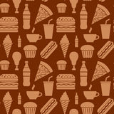 Fast food seamless pattern Royalty Free Stock Photography