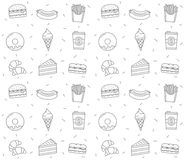 Fast Food Seamless Pattern Royalty Free Stock Photos