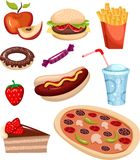 Fast food set Stock Image