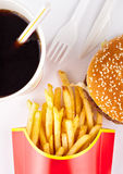Fast food set Royalty Free Stock Photos