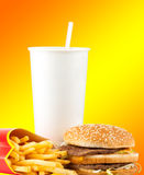 Fast food set stock photography