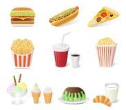 fast food set Stock Photo