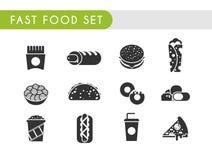 Fast food set Stock Photos