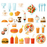 Fast food set. For design Stock Images