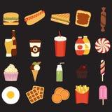 Fast food set stock illustration