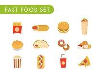 Fast food set Royalty Free Stock Photos