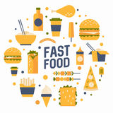 Fast food. royalty free illustration