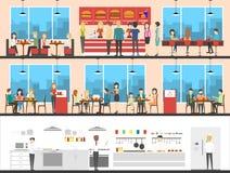 Fast food set. Royalty Free Stock Photo