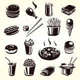 Fast food set. Vector. Illustration stock illustration