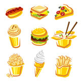 Fast food set. Vector Royalty Free Stock Photography