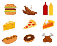 Fast food set vector. On white background vector illustration