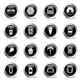 Fast food simply icons. Fast food icons set for web sites and user interface Royalty Free Stock Images