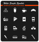 Fast food simply icons. Fast food simply symbol for web icons and user interface Stock Image