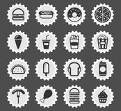 Fast food simply icons. Fast food  simply symbol for web icons and user interface Royalty Free Stock Images