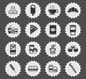 Fast food simply icons. Fast food  simply symbol for web icons and user interface Royalty Free Stock Photo
