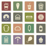 Fast food simply icons. Fast food  vector icons for web sites and user interface Stock Photography