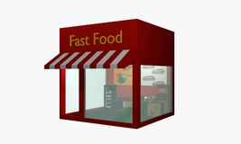 Fast food snack from left side view isolated on white Stock Photography