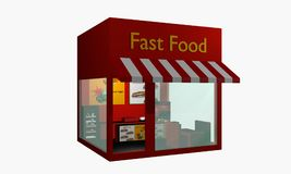 Fast food snack from right side view isolated on white Stock Photos