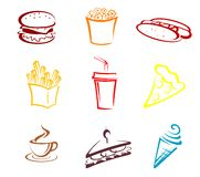 Fast food and snacks Stock Photography
