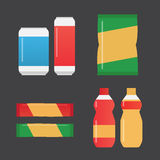 Fast food snacks and drinks Royalty Free Stock Photo