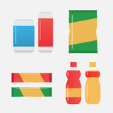 Fast food snacks and drinks Stock Images