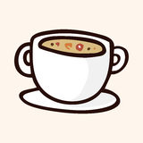 Fast food soup flat icon elements,eps10 Royalty Free Stock Photo
