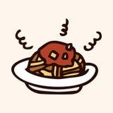 Fast food spaghetti flat icon elements,eps10. Vector illustration file Stock Image