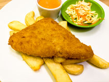 Fast food steak easy to eat. Fish steak Royalty Free Stock Photography