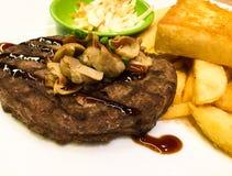 Fast food steak easy to eat. Junk food Stock Image