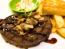 Fast food steak easy to eat. Meal time Stock Images