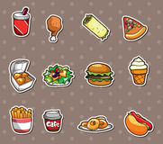 Fast food stickers. Cartoon vector illustration Royalty Free Stock Photography