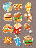 Fast food stickers Royalty Free Stock Images