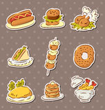 Fast food stickers draw Royalty Free Stock Photography