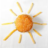 Fast food sun Stock Images
