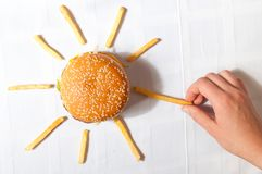 Fast food sun Royalty Free Stock Image