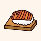 Fast food sushi flat icon elements,eps10. Vector illustration file Stock Photos
