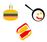 Fast food symbols stock photos
