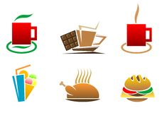 Fast food symbols Royalty Free Stock Photography
