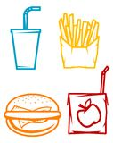 Fast food symbols Stock Image
