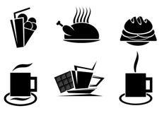 Fast food symbols Royalty Free Stock Image