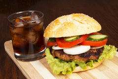 Fast food on the table. Delicious fast food on the table Stock Photography