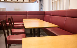 Fast food table and chairs Stock Photography