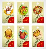 Fast food tags Stock Image