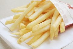 Fast food take out meal of French Fries royalty free stock images