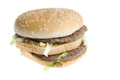 Fast-food, tasty, yummy hamburger Stock Images
