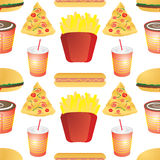 Fast food tile Stock Photo